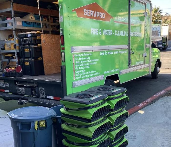 Drying Equipment and SERVPRO Truck