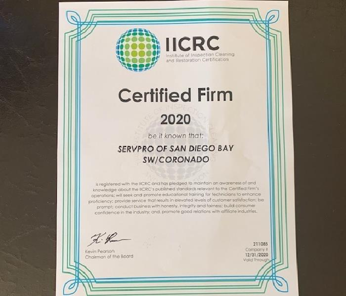 2020 IICRC Certification