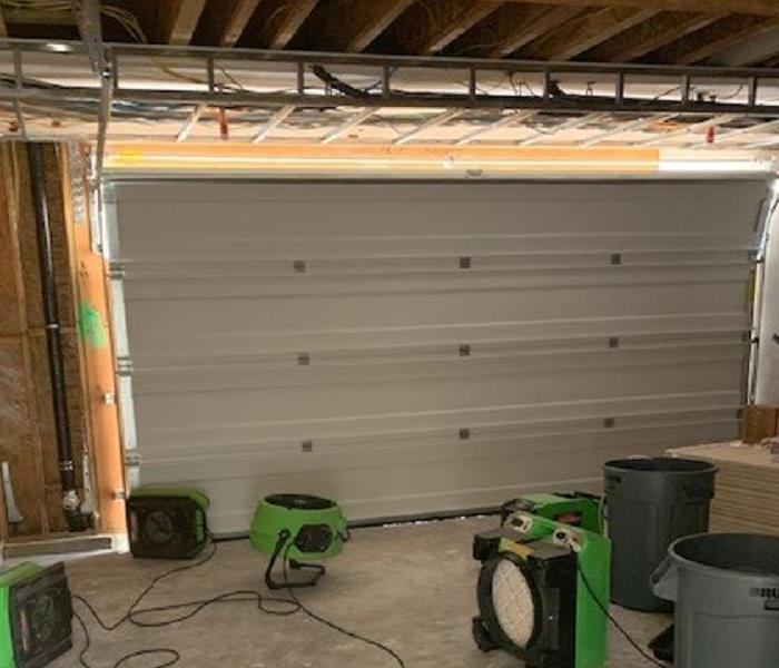 Garage with equipment